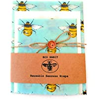 Extra Large+Large+Medium 100% Natural Beeswax Food Wraps, Zero Waste, Reusable