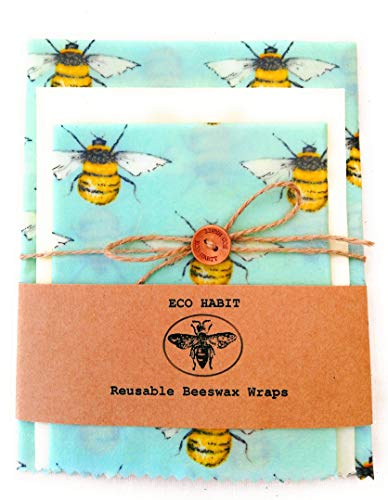 Extra Large+Large+Medium 100% Natural Beeswax Food Wraps, Same Day Posting, Zero Waste, Reusable