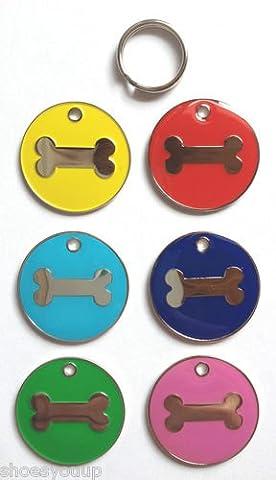 personnalisé coloré Chat en émail OS de chien pour animal domestique balises Couleur au choix gravé gratuit