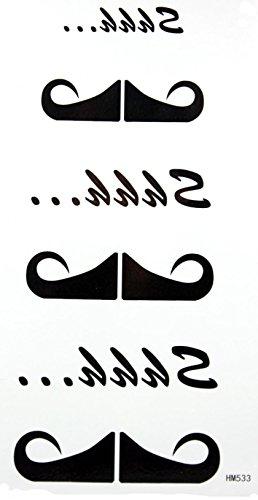GRASHINE toxiques barbe noire stckers étanches et non de tatouage temporaire