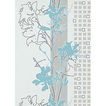 Tapete Vertiko Erismann Vliestapete 6745-18 674518 Blumen weiß türkis
