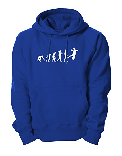Ma2ca - Evolution Handball Kapuzensweatshirt-royal-s