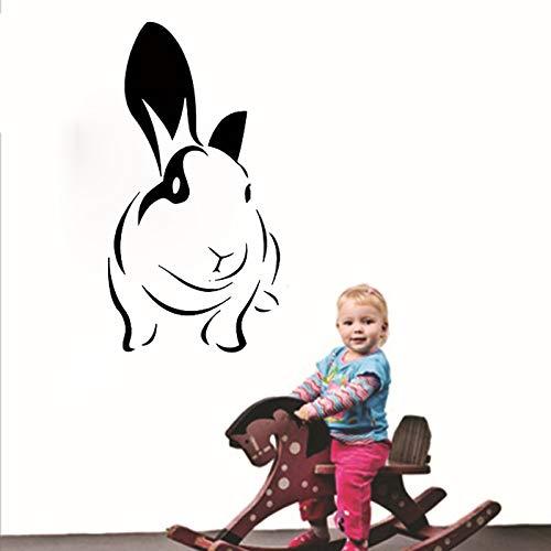 Animali stickers murali animali coniglio rimovibile vinile bambini camera da letto home decorscavafuori wall artstic 82cmx44cm