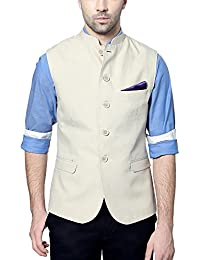 Van Heusen Men's Slim Fit Plain Blazers (Cream, 38, 8907271533324)