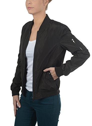DESIRES Temari Damen Bomberjacke Übergangsjacke Jacke mit Stehkragen, Größe:XS, Farbe:Black (9000) - 3