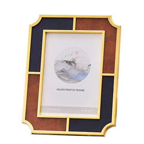 Alidown Foto Frame 4x6 5x7 Collage Schlafzimmer Neuen Chinesischen Stil Stil Metalldekorationen Set Leben Foto Ziemlich (Size : 7-inch) -