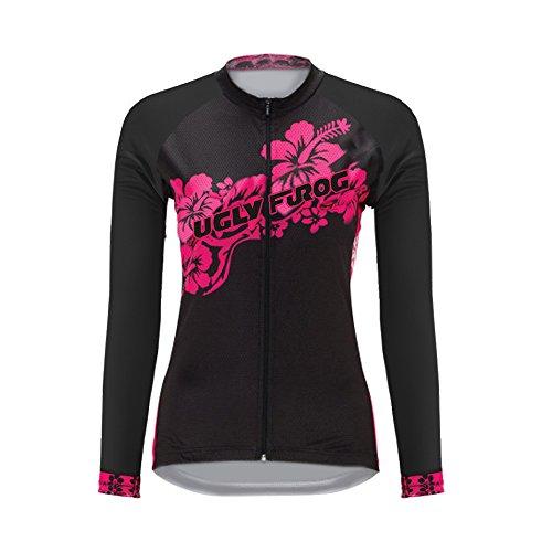 Uglyfrog Classico Magliette Donna Manica Lunga Ciclismo Abbigliamento Inverno Style Tessuto Spesso ZRWX03F