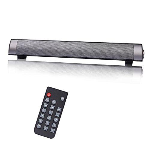 CAHAYA Soundbar Bluetooth 3,0 Lautsprecher mit Fernbedienung (5Wx2/ unterstützt Micro SD Karte/ 3.5mm Aux-in für TV/PC/ Tablet - Wireless Bar-lautsprecher Tv Sound