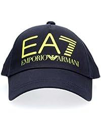 Emporio Armani EA7 chapeau homme réglable en coton train big logo blu