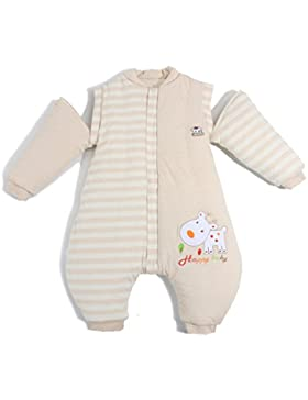Baby Schlafsack mit Füßen Winter Kinderschlafsack Jungen Babyschlafsack mit Beinen Mädchen,abnehmbar Langarm size...