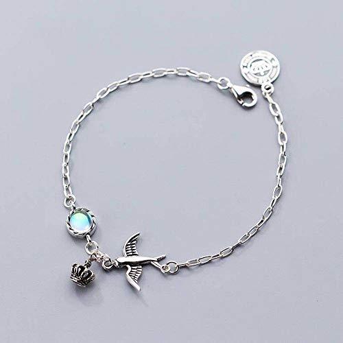 rmband Mode Thai Silber Retro Adler Armband Temperament Nationalen Aurora Krone, S925 Silberarmband, Einheitsgröße ()