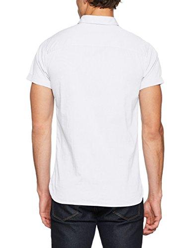JACK & JONES PREMIUM Herren Freizeithemd Jprkevin Shirt S/S Weiß (White Fit:Slim Fit)