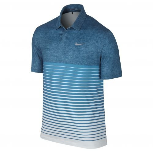 Nike TW Bold Stripe Polo Herren blau/weiß Größe XL (Polo Nike Stripe)