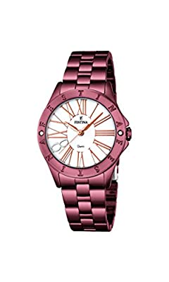 Festina Damen-reloj de pulsera analógico de cuarzo de acero inoxidable recubierto F16928/1 de Festina