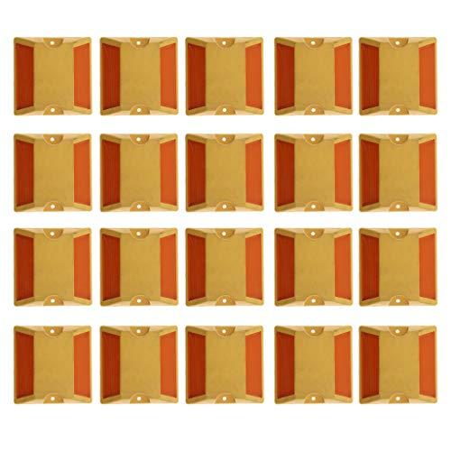 20 Stücke Straßenmarkierung Reflektierender Straßenmarkierungsbolzen