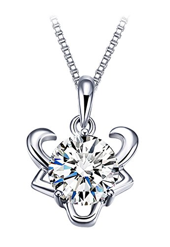 sterling-silver-cubic-zirconia-zodiac-pendant-necklace-for-women-with-box-chain-46cm-taurus