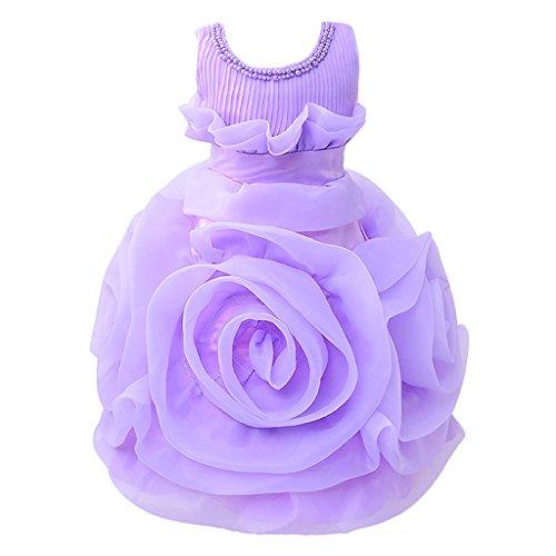 olumn Kleid, Geblümt violett violett 150 cm (Costumi Halloween Bambini)