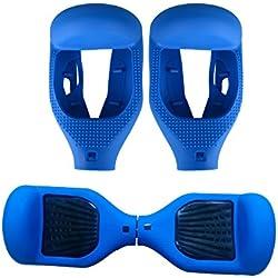 6.5 Pulgadas Funda Carcasa de Silicona para Hoverboard Smart Balance Wheel Self Balancing Scooter (Azul)