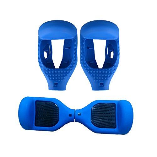 (Half Cover) 1 paio Custodia in Silicone Copertura Mezza per Hoverboard con Ruote di 6.5'' / 16.5cm (Blu)