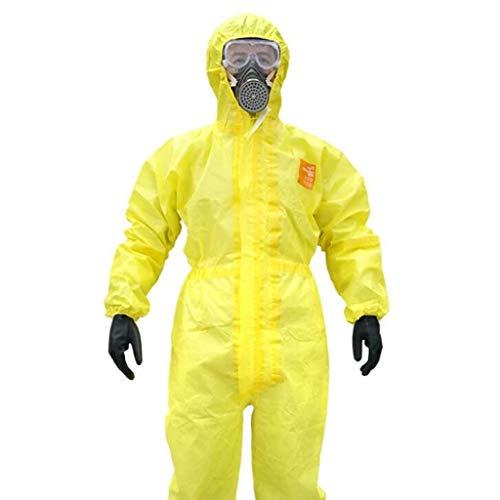 CYHX Tuta Protettiva Chimica Siamese, Abbigliamento Protettivo alcalino e Acido, Impermeabile, antispruzzo (Dimensioni : S.)