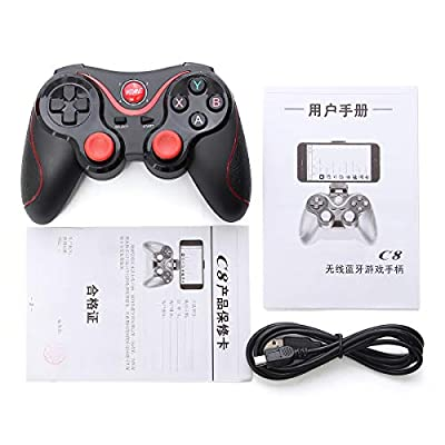 ROUHO C8 Wireless Bluetooth 3.0 Game Pad Gaming Controller+Holder+Receiver For Android Smart Phone Tablet
