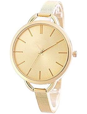 Zierliche Fashion Damenuhr in Farbe: Gold ! Uhr Edelstahl Armbanduhr Armbanduhren Schmuck Damen Frauen Roségold...