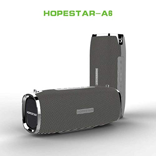 sanjinshangmao HOPESTAR-A6 Wireless Bluetooth Lautsprecherkarte Battle Drum Outdoor wasserdicht Riemen tragbarer High-Power-Bass Argent