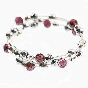 Filigraner Silber-Ring mit kleinen Granat-Perlen, Hämatin und echtem Silber