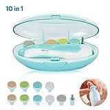Lime Per Unghie di Neonati Elettrico 10 in 1 Super Kit per Manicure Bambino Baby Nails Care