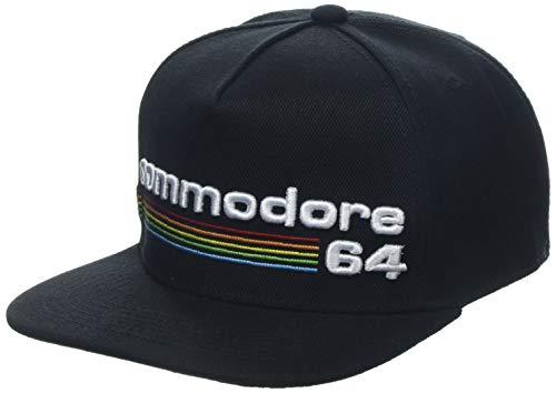 Difuzed Unisex Commodore 64 Embroidered Full Rainbow Logo Snapback, Black (SB108477C64) Baseball Cap, Schwarz, One Size