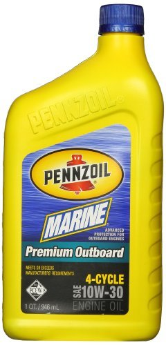 Pennzoil 5063875 Marine Premium Outboard 4-Cycle 10W-30 Engine Oil - 1 Quart by Pennzoil -