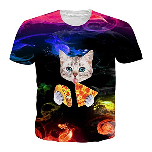 Summer Short Pants 3d Beach Holiday Mens Short Pants Cargo Overalls Cat Eating Tacos Pizza Shirts Galaxy Space High Resilience Board Shorts