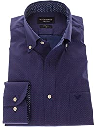 166044 - Bots & Bots Exclusive Collection - Micro Print - Coton - Button Down - Normal Fit