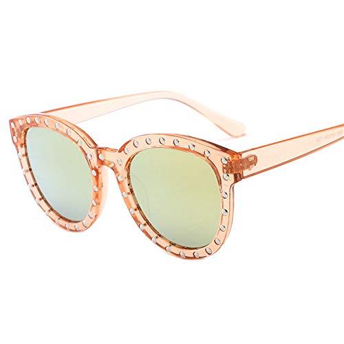 Taiyangcheng Baby Kids Sonnenbrille Runde Brille Vintage Cat Eye Sonnenbrille für Mädchen Jungen,Rosa