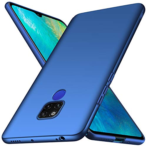 anccer Cover Huawei Mate 20 X, [Alta qualità] [Ultra Thin] Anti-Scratch Hard PC Case Custodia per Huawei Mate 20 X (Azzurro Liscio)