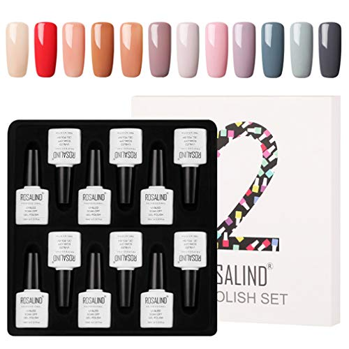 ROSALIND kit per smalto gel Kit Lacca gel permanente semipermanente 12 pz 10ml