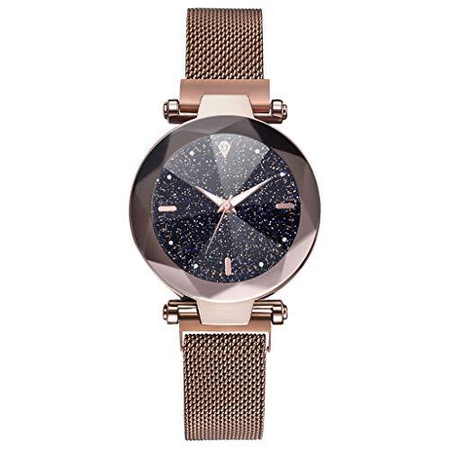 Kostüm Kaffee Verwandte - 2019 Mode Armbanduhr, Damen Uhr Konvex Glas Quarz Mesh Gürtel Mit Magnetisch Schnalle Damen Uhren, Armbanduhr Frauen Rosegold