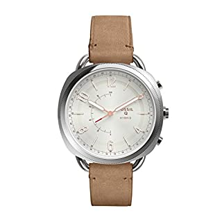 FOSSIL Q Accomplice Sand Leather – Analogue Women's Hybrid Smartwatch Android and iOS compatible – Bluetooth Technology - Activity and Sleep Tracking, Smartphone Notifications