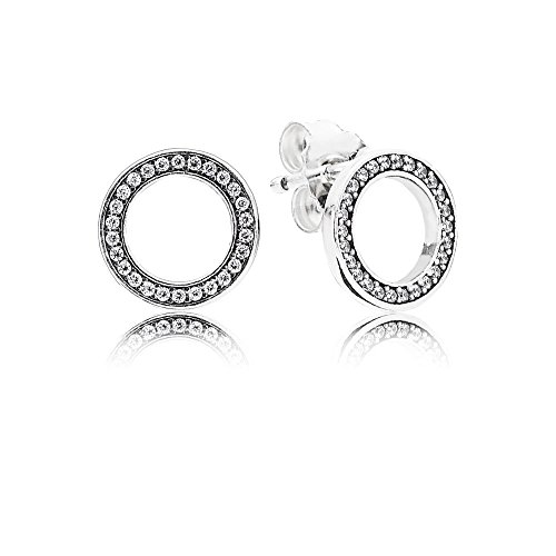 Pandora orecchini a perno donna argento - 290585cz