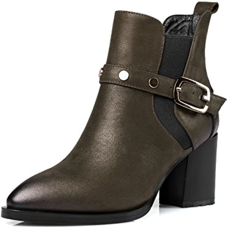 QIN&X Le donne del blocco punta breve caviglia stivali scarpe scarpe scarpe | Imballaggio elegante e stabile  | Sig/Sig Ra Scarpa  90a16e