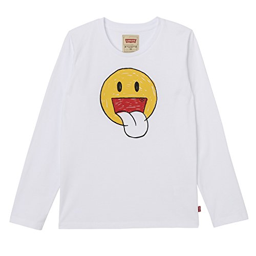 Levi's ls tee trio, t-shirt bambino, bianco (white 01), 12 anni (taglia produttore: 12a)