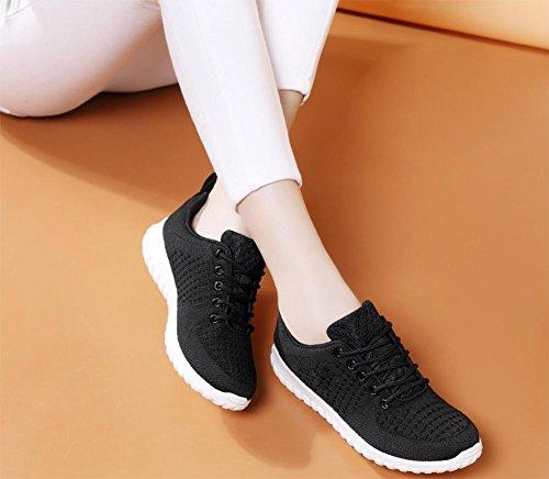 Ms. scarpe rete traspirante, scarpe casual autunno aumentato scarpe Ms. Black