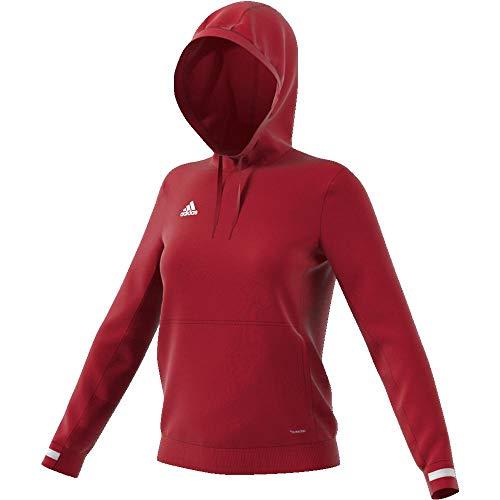 adidas Damen T19 Hoody W Sweatshirt, Power red/White, S