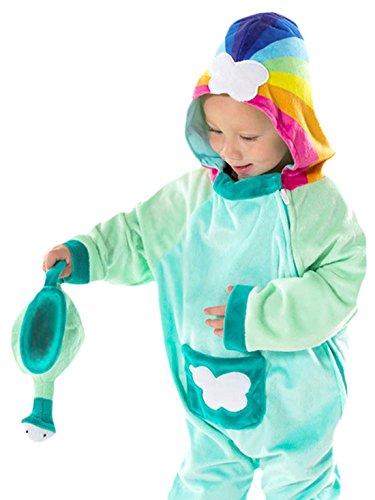 erdbeerloft - Unisex - Kinder Wolkenkind Jumpsuit Komplett Kostüm Karneval , Mehrfarbig, Größe 92-98, 2-3 Jahre