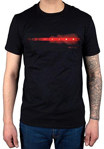 Knight Rider-Maglietta ufficiale della serie TV per auto Michael Knight nero XL