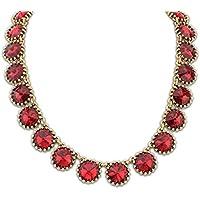 Aooaz Bohemia stile collana per donna oro placcato ladies cluster di catena rotonda colori strass collana Natale