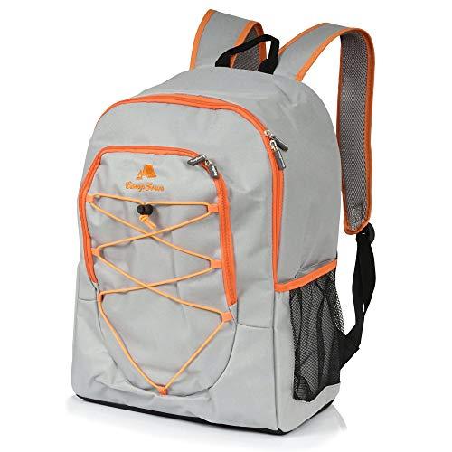 CampFeuer Kühl Rucksack 30L grau Kühlrucksack Kühltasche groß wasserdicht Ultraleicht Damen und Herren Cooler Bag für BBQ Camping Picknick Wandern Arbeit