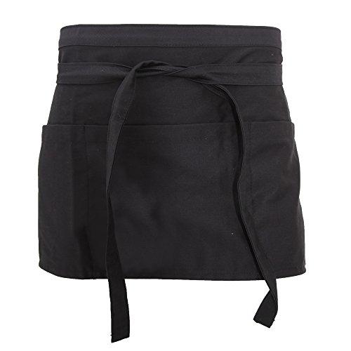 dennys-unisex-bar-schurze-mit-geld-taschen-service-arbeitsbekleidung-einheitsgrosse-schwarz