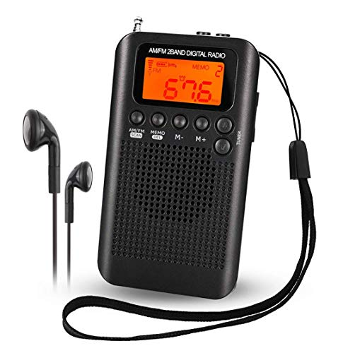 Mini Am FM Radio Digital portátil Reloj Despertador