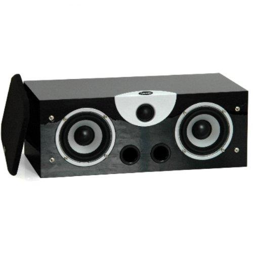 Dynavoice Magic C-4 EX v3 Black - Diffusore Acustico Centrale a 2 Vie Bass Reflex per Hi-Fi e Home Cinema. Cabinet in legno MDF con finitura venato legno.